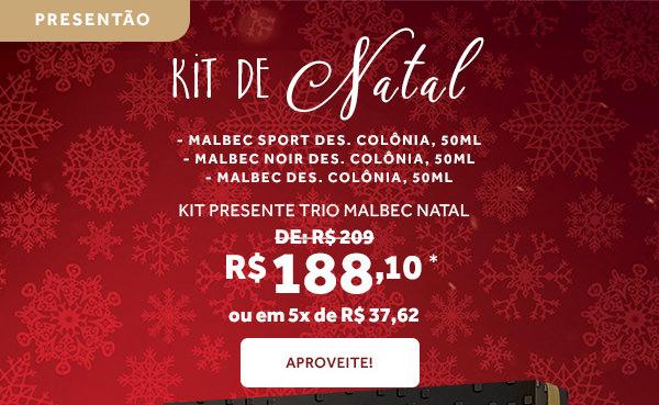Kits de natal por 209 reais