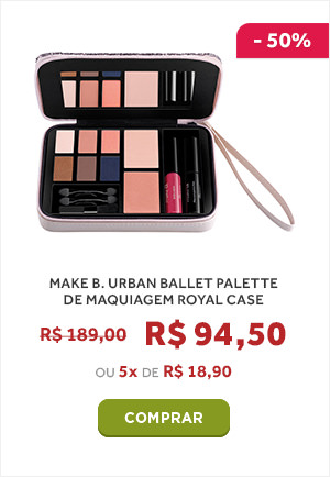 MAKE B. URBAN BALLET PALETTE DE MAQUIAGEM ROYAL CASE