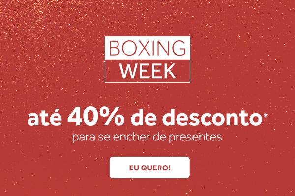 Boxing Week: Até 40% de desconto para se encher de presentes