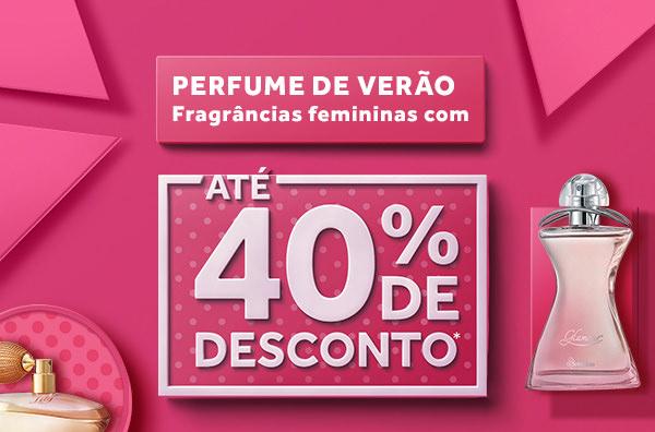 Perfume de verão. Fragrâncias femininas com até 40% de desconto