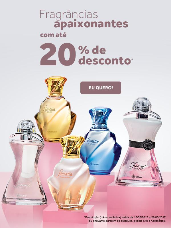 Fragrâncias apaixonantes com até 20 por cento de desconto